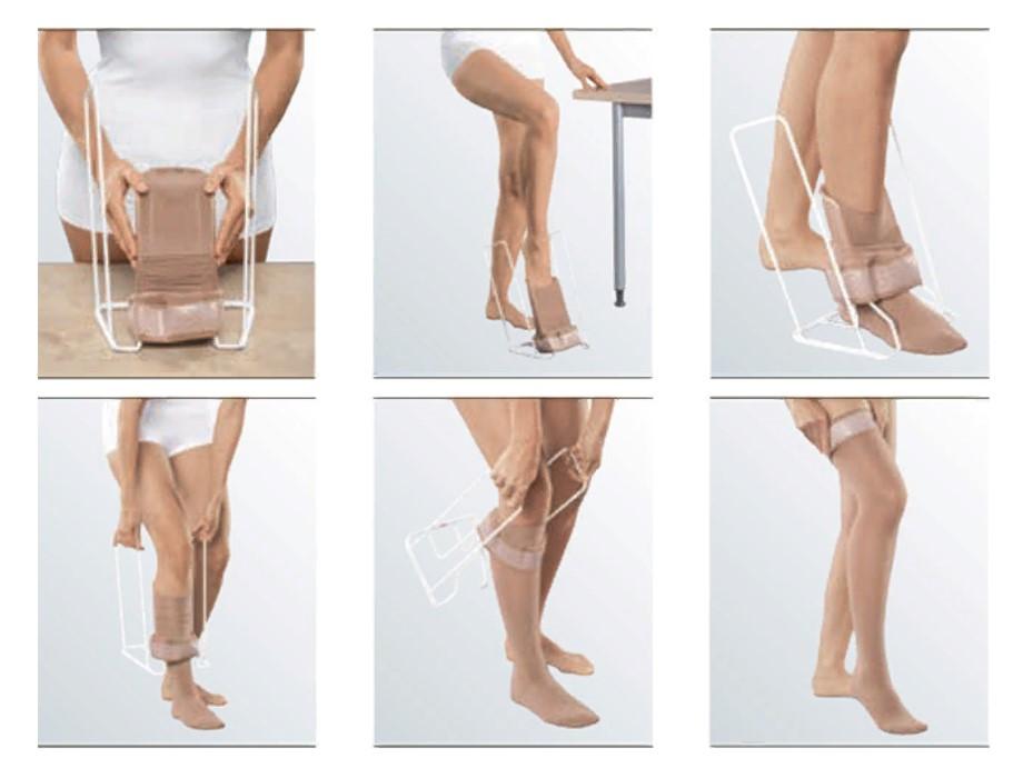 Как надеть компрессионные чулки с открытым или закрытым носком