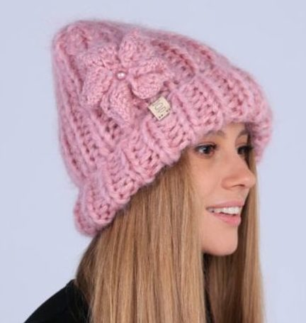 Мохер шапка модель 1