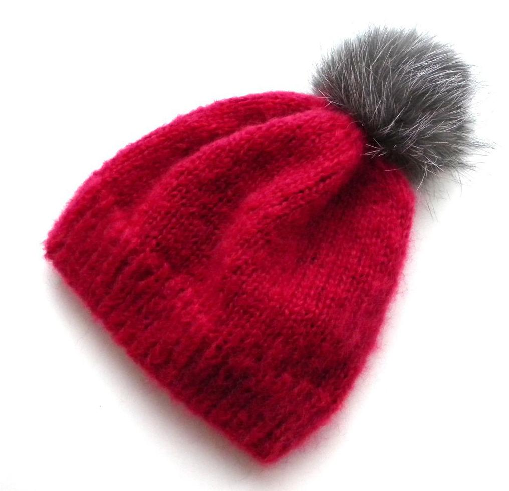 Мохер шапка модель 2