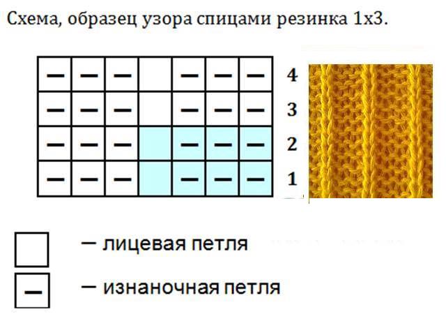 Мохер шапка схема 1