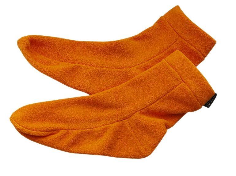 Носки из флиса рыжие