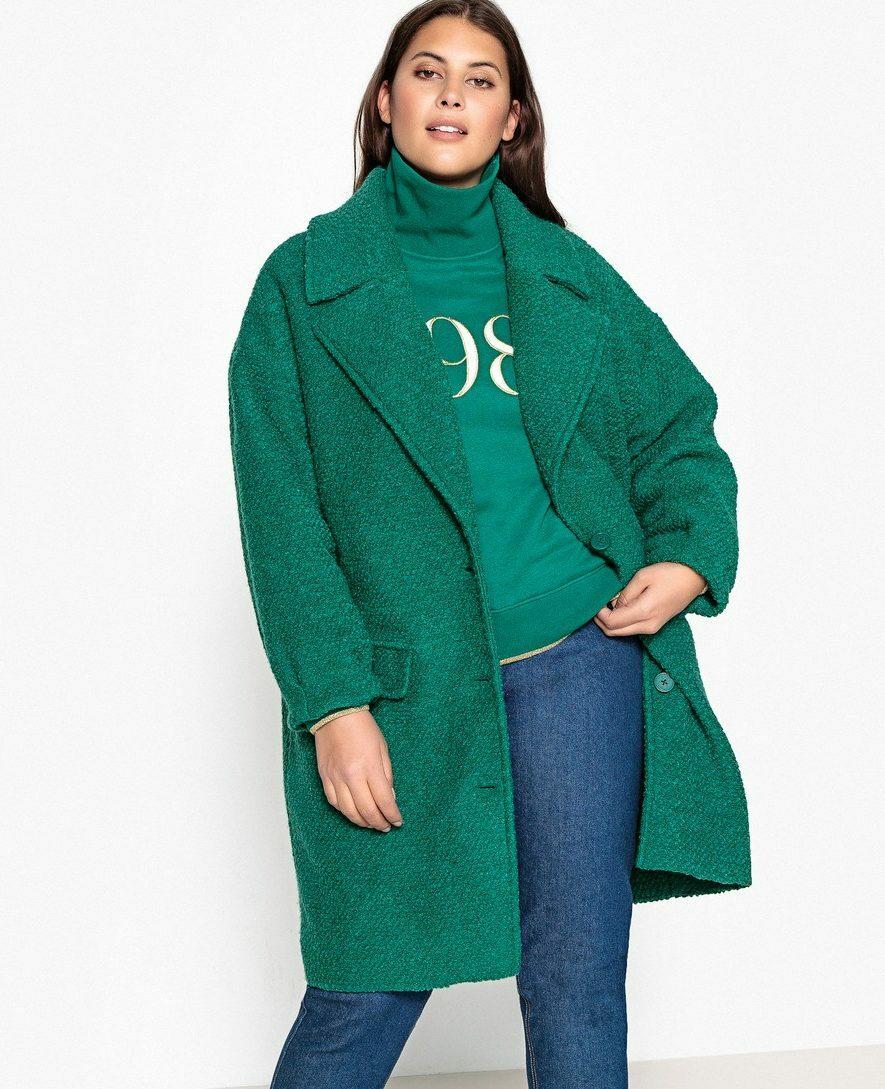 Пальто из шерсти и полиэстера