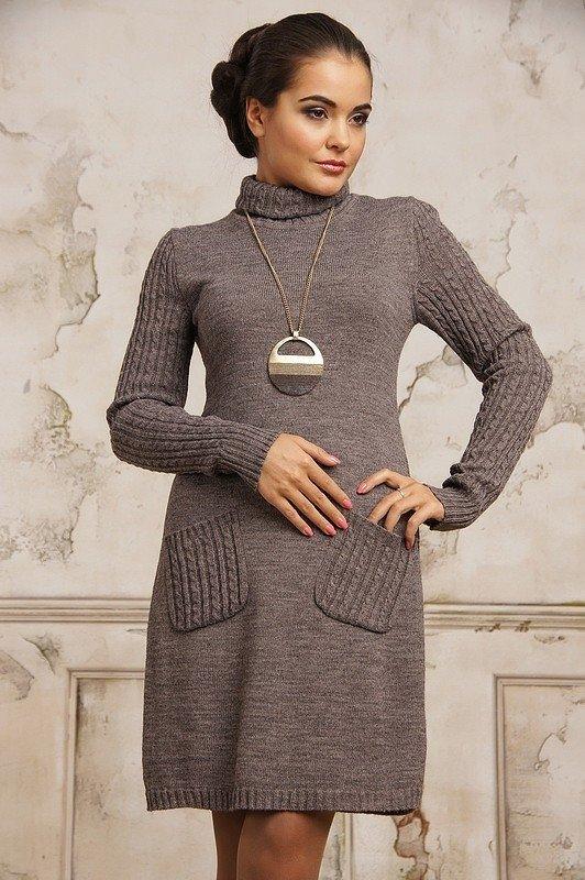 Платье вязаное модель 1