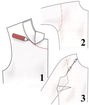 Подкладка выкройка