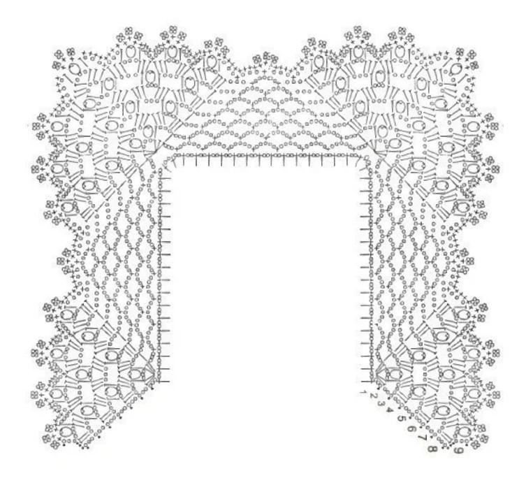 Пришить кружево схема крючком