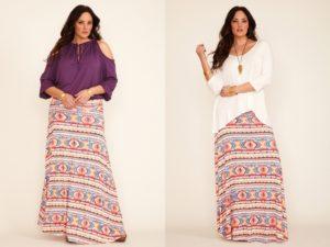 Длинные юбки могут быть двух видов – А-силуэта и прямые