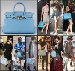 луки с голубой сумкой