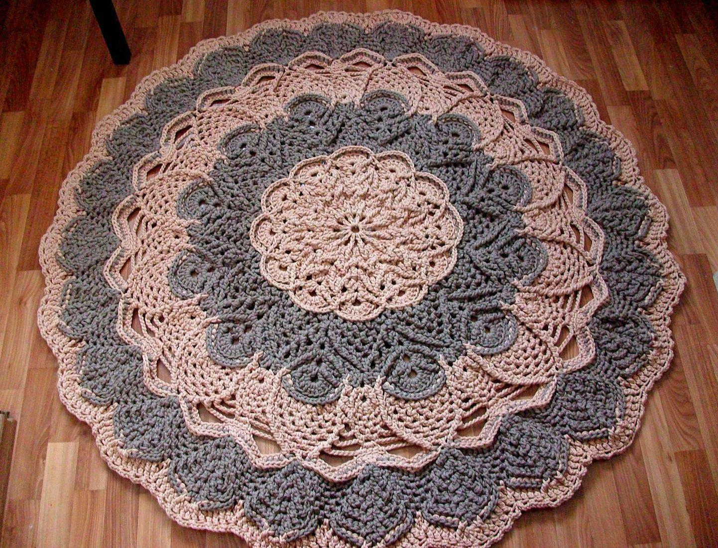 Сколько пряжи на круглый коврик