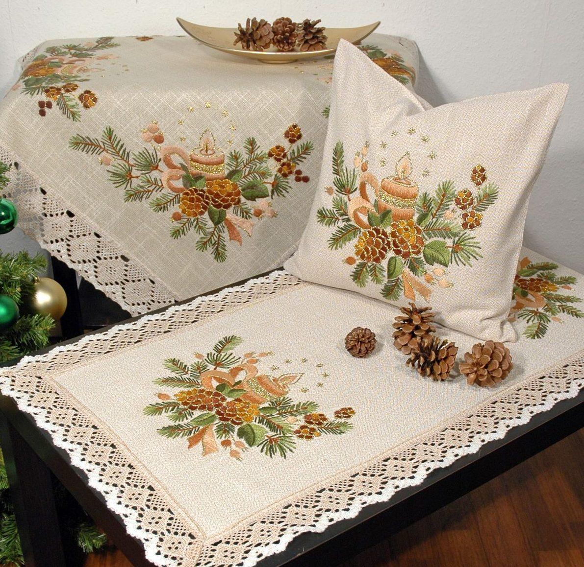 Текстиль с вышивкой