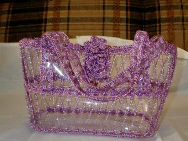 Прозрачная сумка из пластиковых бутылок