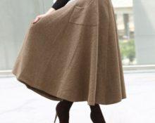 юбка из драпа
