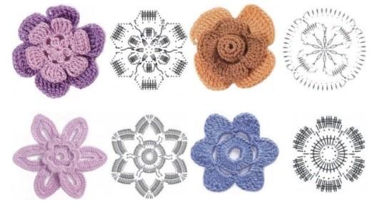 Цветы на шапку 4