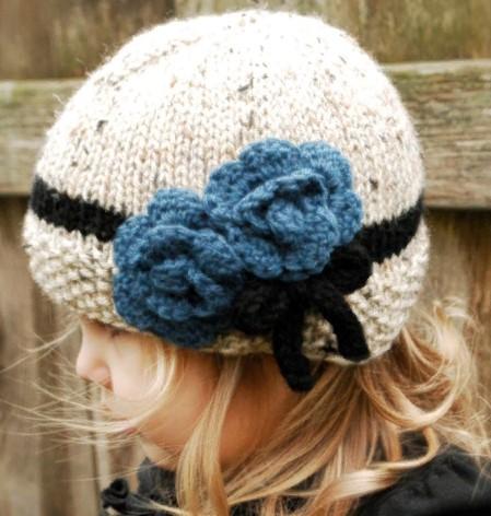 Цветы на шапку 5