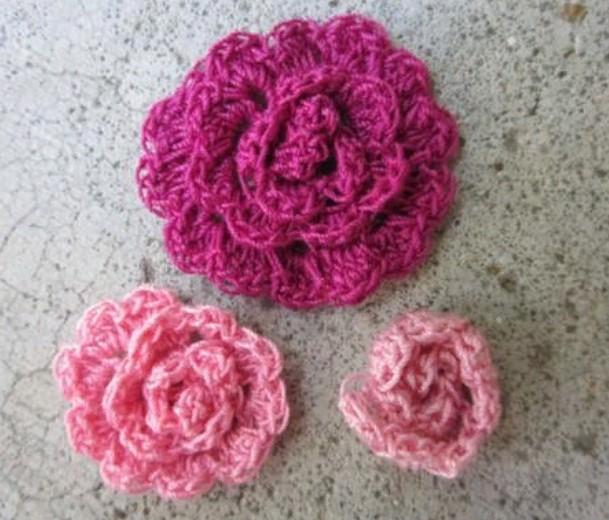 Цветы пион из вязаных цветов