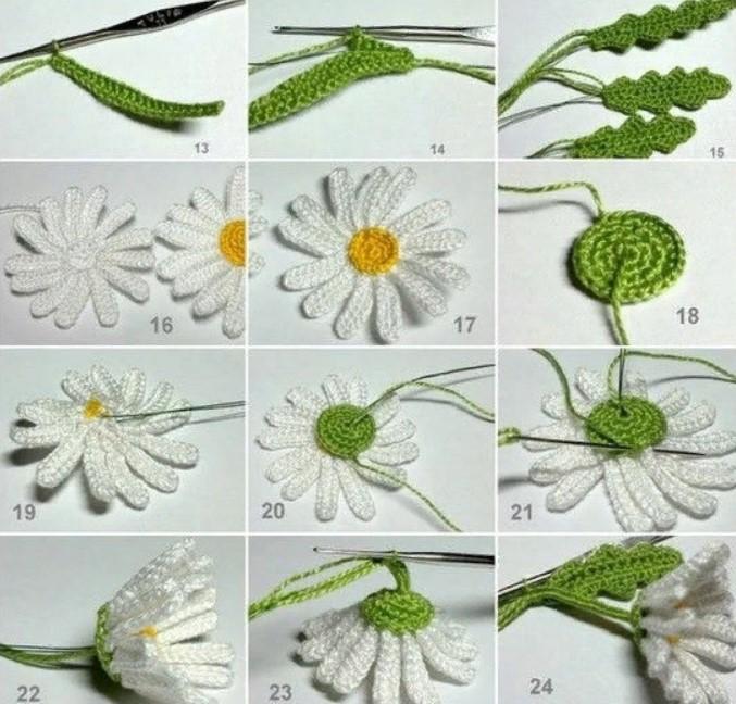 Цветы ромашки в вазоне 2