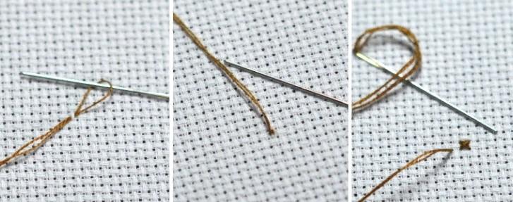 Вышивка петельный метод
