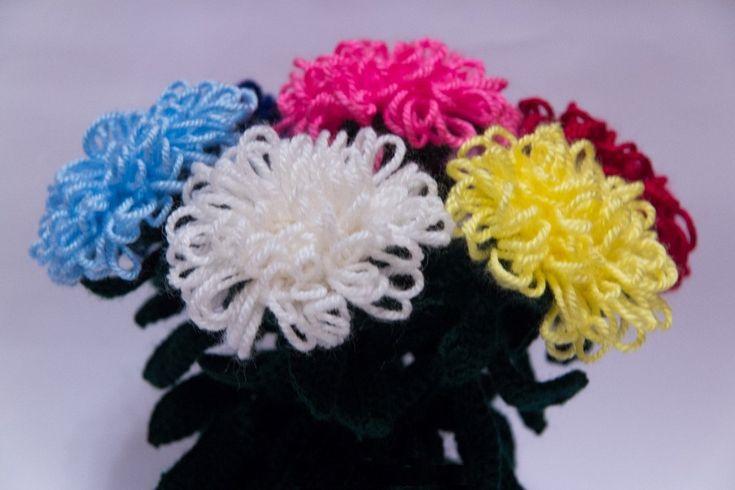 Вещи цветы из ниток