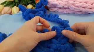 Вязание без спиц из шерсти с петлями 4