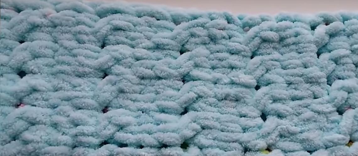 Вязание без спиц шарф петельками