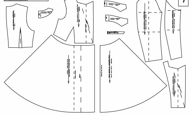 Выкройка приталенного платья с расклешённой книзу юбкой