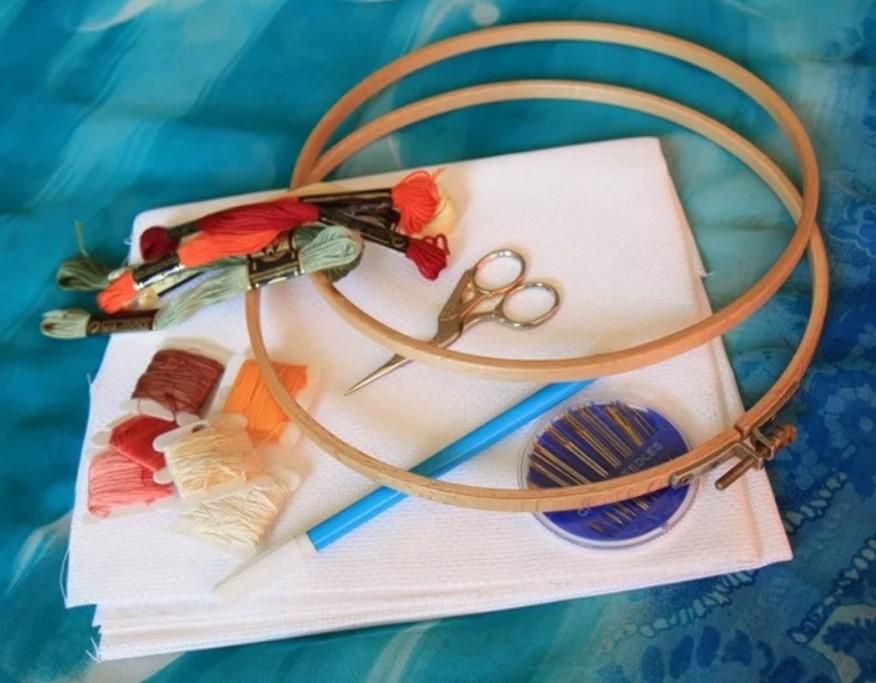 Вышивка нитками с мулине