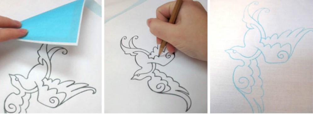 Вышивка перенос рисунка на ткань с помощью копировальной бумаги