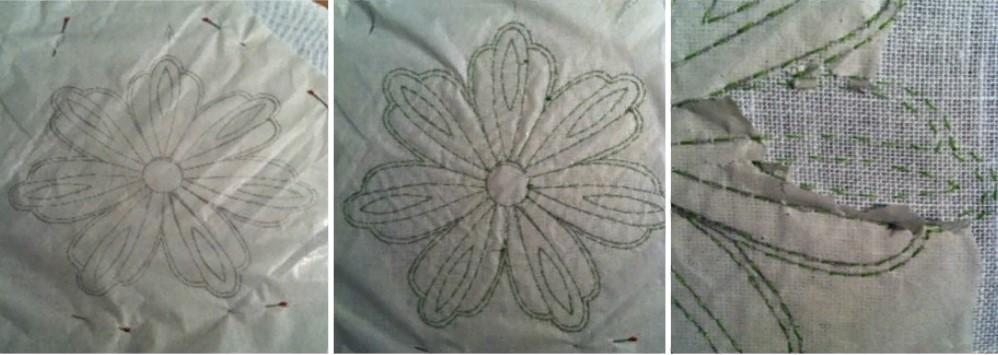 Вышивка перенос рисунка на ткань обстрочкой