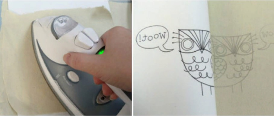 Вышивка перенос рисунка с утюгом