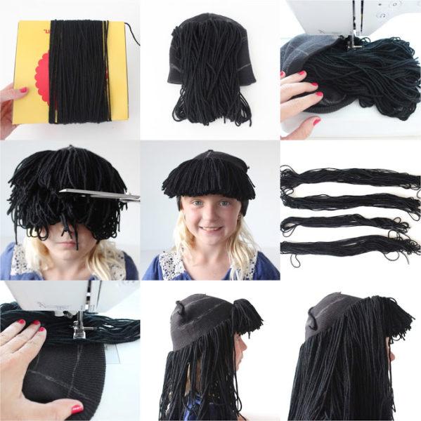 парик из ниток своими руками