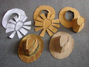 ковбойская шляпа из картона и бумаги