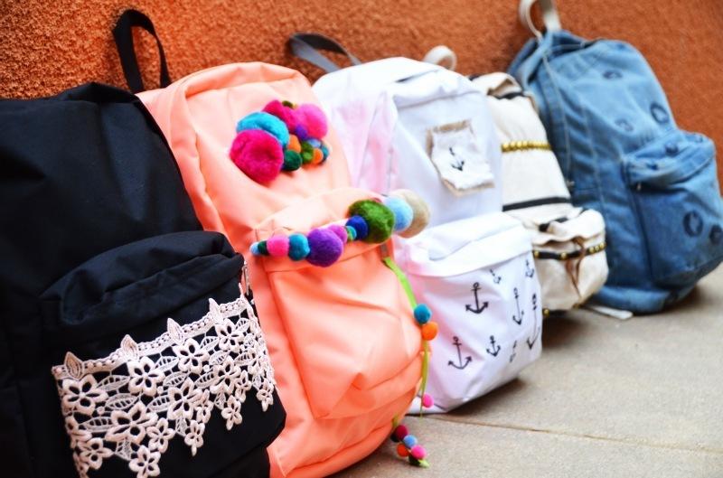 как украсить рюкзак своими руками