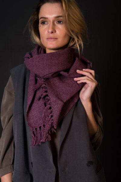 шерстяной шарф образ