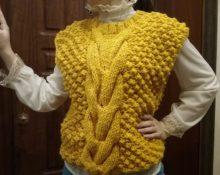 безрукавка жилет желтый на зиму