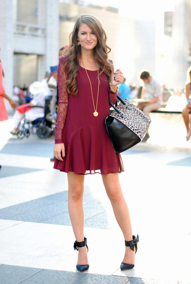 бордовое платье для свидания
