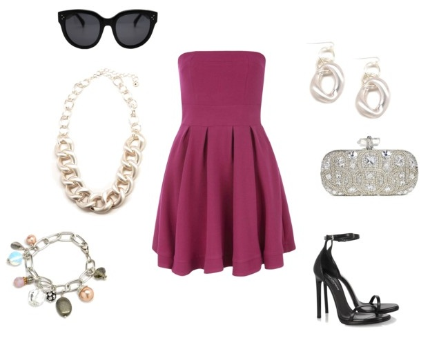 бордовое вечернее платье с украшениями