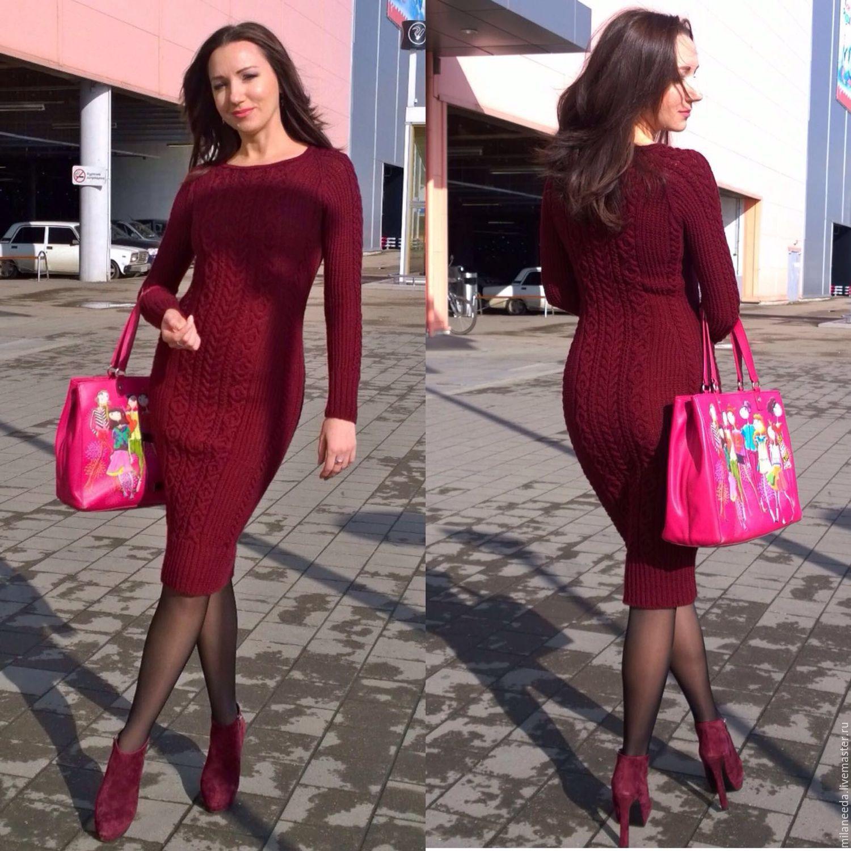 бордовое платье на каждый день