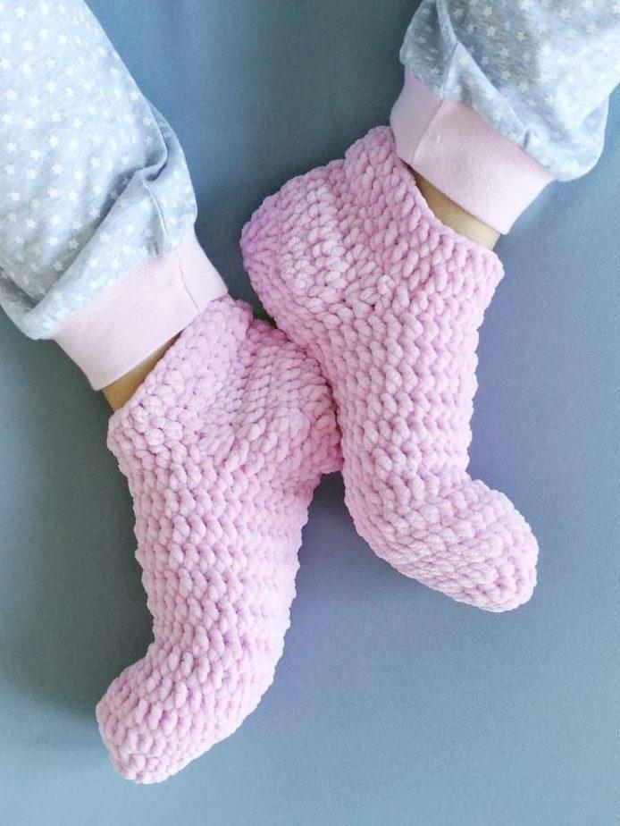 носки из плюшевой пряжи