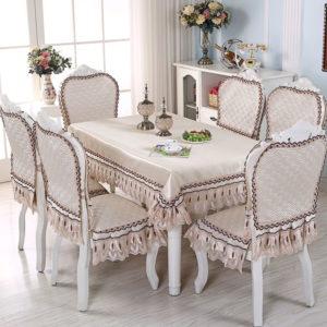 декор скатерти на прямоугольный стол