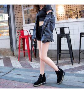 демисезонная замшевая обувь