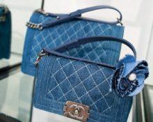 сумка-клатч из джинс
