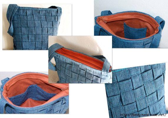 изготовление сумки из джинс