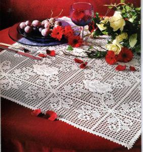 филейное вязание скатерть