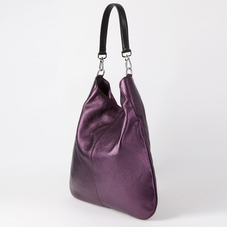 Фиолетовая сумка хобо