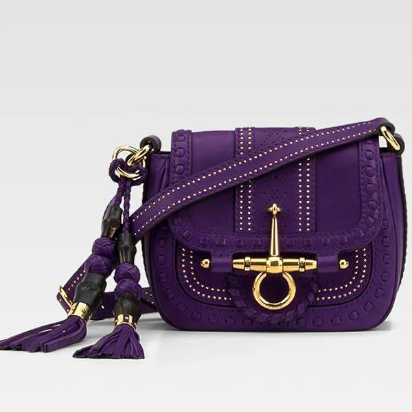 Фиолетовая сумка нарядная