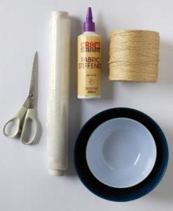 материалы для вазы из ниток и клея