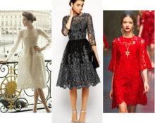 какие бывают платья из гипюра