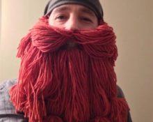 как сделать бороду из ниток