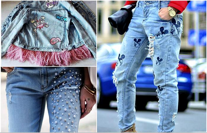 джинсовые вещи обновлённые