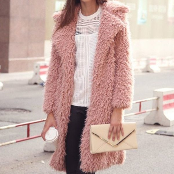 пальто из искусственной шерсти