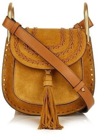Замшевая желтая сумка